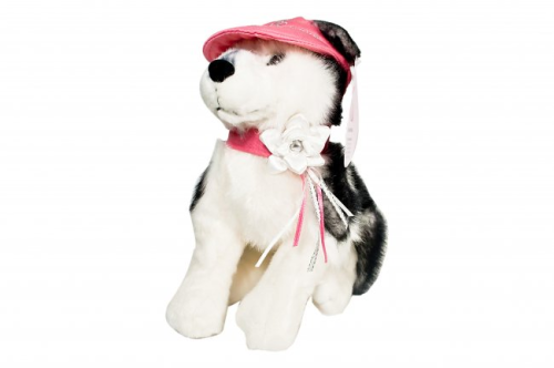 "Maria Sharapova Husky Dog ""Sasha"" by GUND with 90ml Sharapova shower gel"