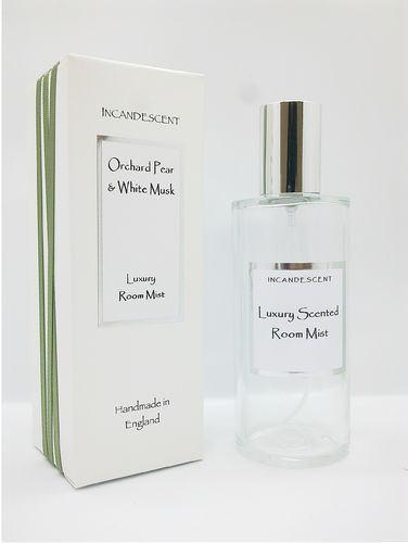 Incandescent Orchard Pear & White Musk Luxury Room Mist 100ml Spray
